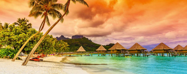 Panorama Vliestapete Polynesien 375x150