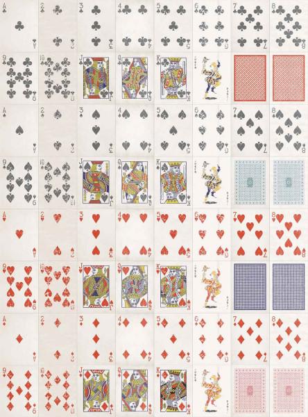 Kreative Collage Spielkarten Pokerblatt Designer Tapete