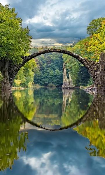 Vlies Fototapete Bogenbrücke 150x250