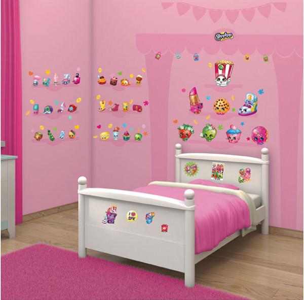 Walltastic Wandsticker Set Shopkins Kinderzimmer