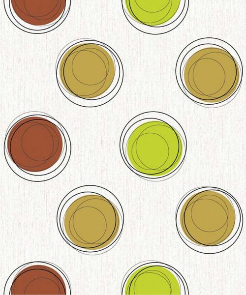 Selbstklebende Tapete Vintage Kreise