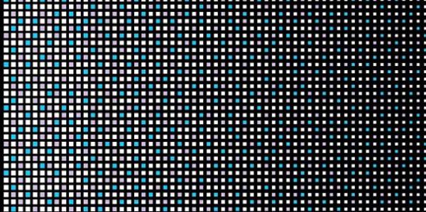 Fensterfolie selbstklebend farbige Quadrate