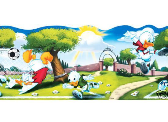 Bordüre Disney Donald Duck Fußball