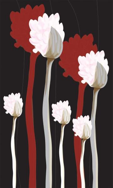 Vlies Fototapete Grafik Pflanzen 150x250