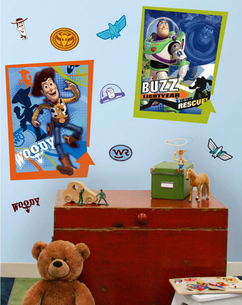 Wandtattoo Toy Story Buzz Woody Kinderzimmer