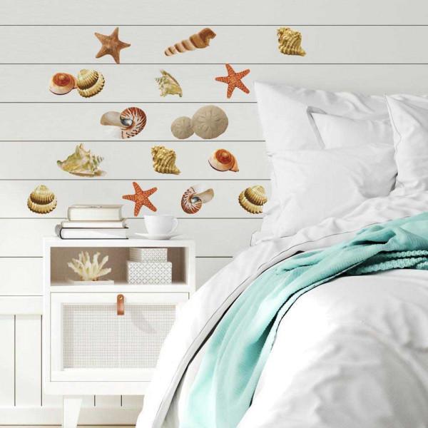 RoomMates Wandsticker Muscheln Seesterne Meer