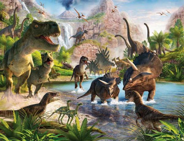 Fototapete Kinderzimmer Dinosaurier Land T.Rex