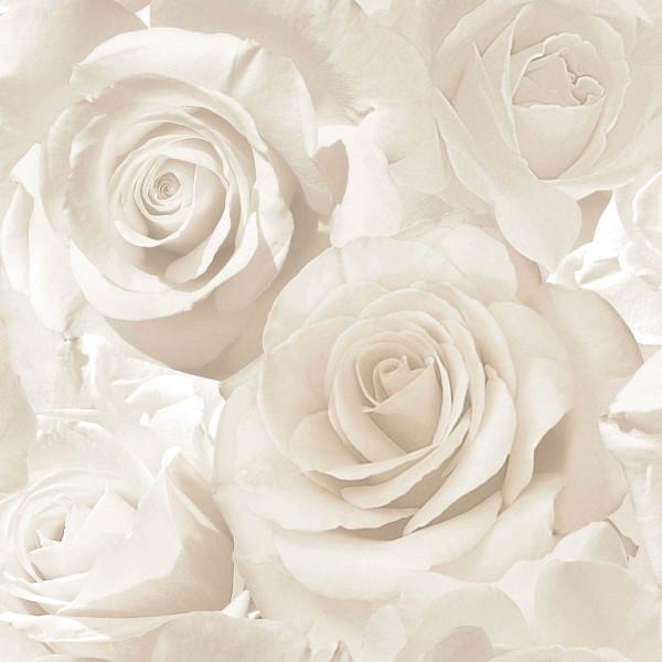 Tapete Madison Rose Glitter perlweiß creme