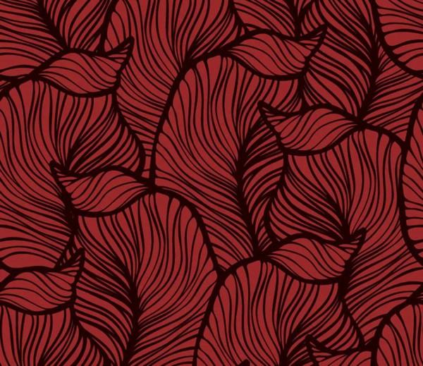 Vliestapete 3D-Optik Blatt rot