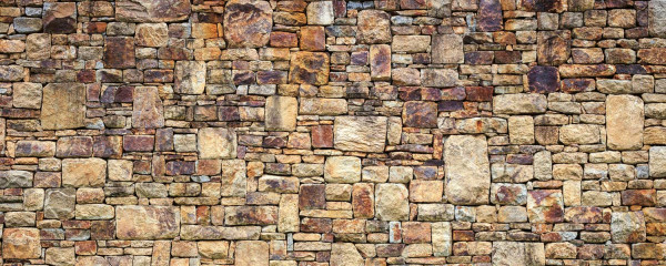 Panorama Vliestapete Steinmauer 375x150