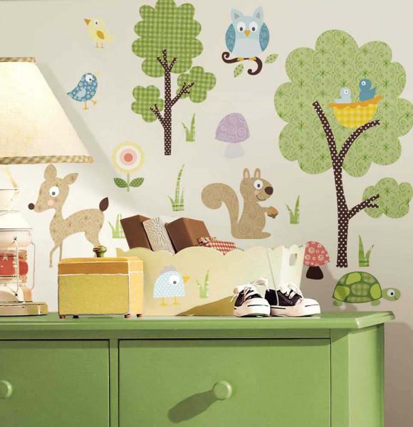 Wandsticker Wandtattoo Waldtiere Kinderzimmer