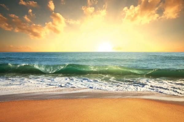 Vliestapete Sonnenuntergang am Meer 375x250