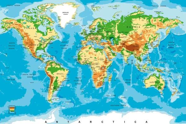 Vliestapete Weltkarte 375x250