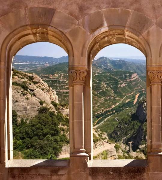 Vliestapete Bogenfenster 225x250