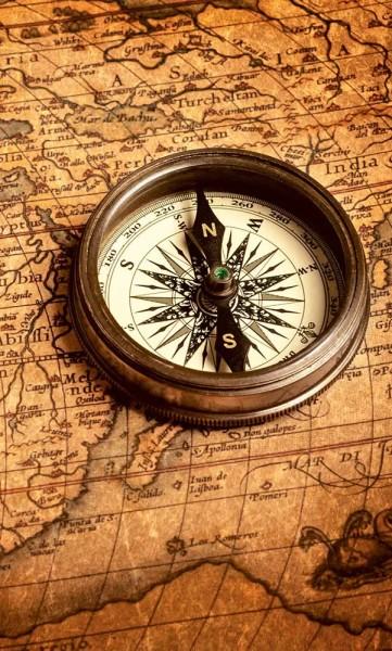 Vlies Fototapete Kompass 150x250