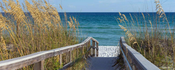 Panorama Vliestapete Strand Promenade 375x150