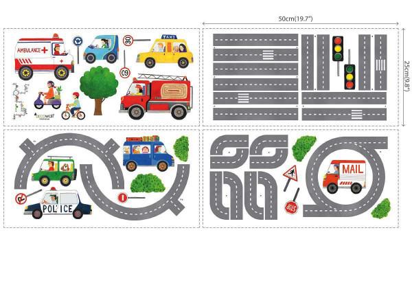 Wandsticker Autos Reisebus Straßenverkehr