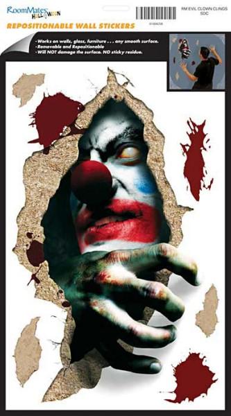 """Wandsticker Bö""""ser Clown Halloween"""